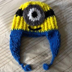 Brand New Minion Crochet Handmade Hat One Size